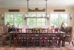Dining Room Banquette Transitional with Tufted Chairs Contemporary Adjustable Height Bar Stools