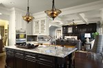 Granite Countertops Images Kitchen Traditional with Alder Island Rubbed Bronze Faucets