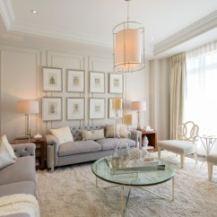 Gray Linen Tufted Sofa Bedroom Living Room Contemporary With Blue And ...