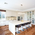 herringbone wood floor kitchen contemporary with diner touch controls