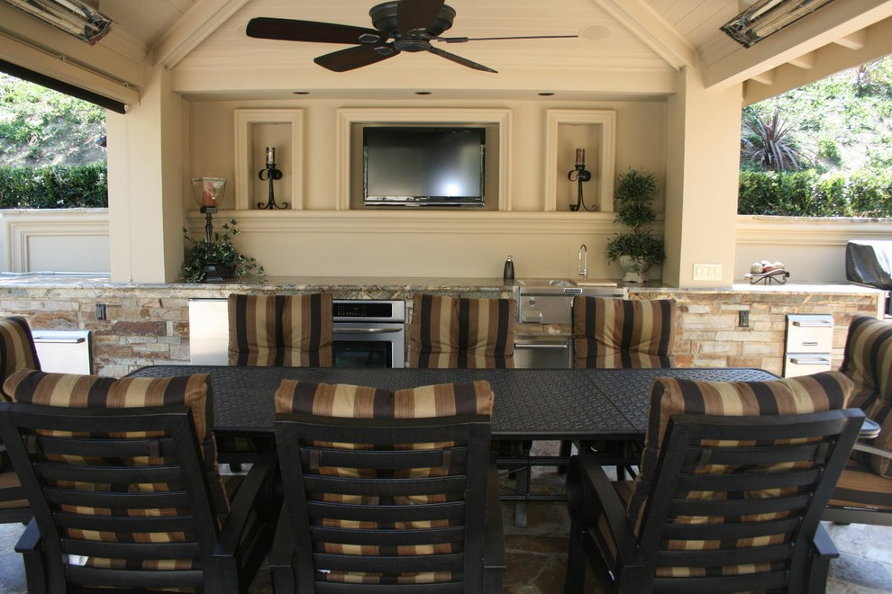 houzz outdoor kitchens patio tropical with counter umbrellas