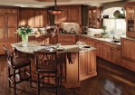 Kraftmaid Kitchen Cabinets with Ceiling Lighting Neutral Colors Room Dividers Great