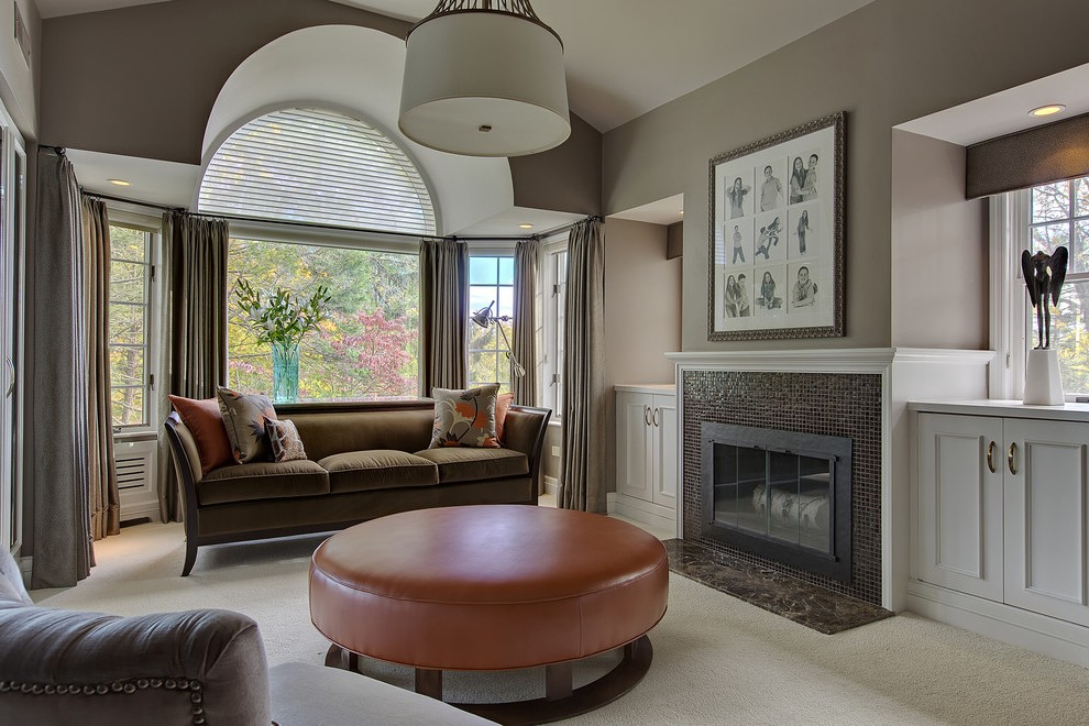 modern fireplace inserts living room with mounted fireplaces