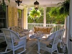 Modern Porch Swing Exterior Traditional with Pavers Themed Pinwheels and Spinners