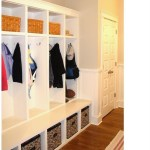 mud room cubbies entry traditional with wicker rattan baskets