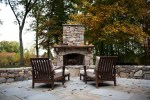 Natural Stone Fireplaces with Hickory Rustic Fireplace Surrounding Matt Lancia Signature Homes