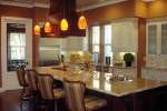 Pendant Lights Over Kitchen Midcentury with Eat in Touch Controls