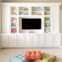 Playroom Storage Ideas Kids Eclectic with Ceiling Lighting ...