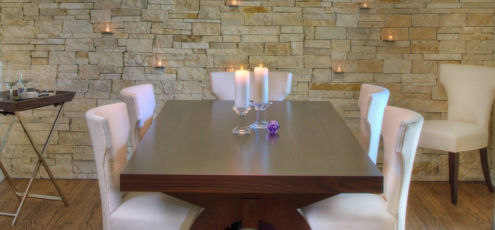 space saving dining room modern with black chair spot lights