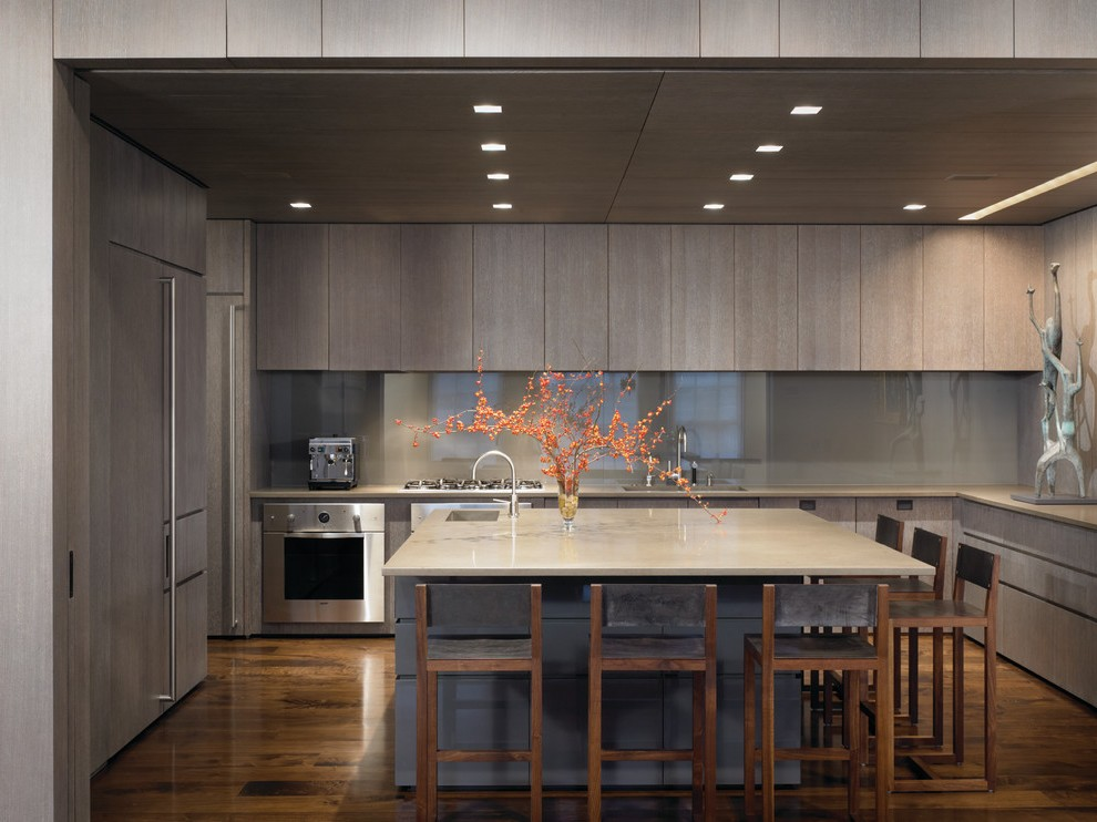 Square Recessed Lighting With Minimal Under Cabinet White