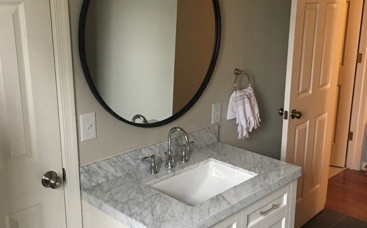 vanities for small powder room traditional with matchstick tile wall drawer bathroom