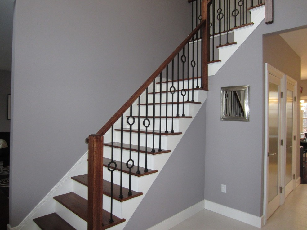 Wrought Iron Stairs with Bird Cage Balustrade Steel
