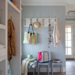 boston mud room hooks with contemporary wallpaper entry beach style and built in cabinets recessed lighting