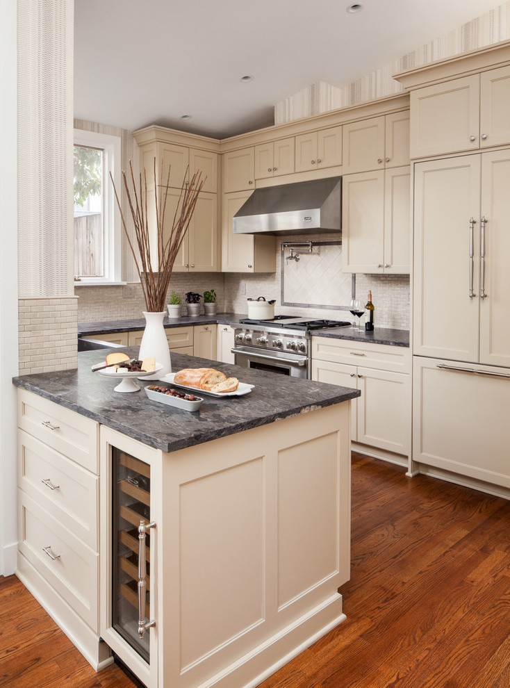 dc metro kitchens with cream colored