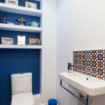 london bath etagere with geometric shower curtains powder room transitional and toilet white shelves