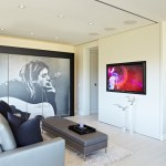 los angeles Studio Apartment Images with synthetic area rugs3 x 5 rugs living room contemporary and minimalist gray walls