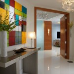 miami Studio Apartment Images with iron table lamps entry contemporary and wood doors