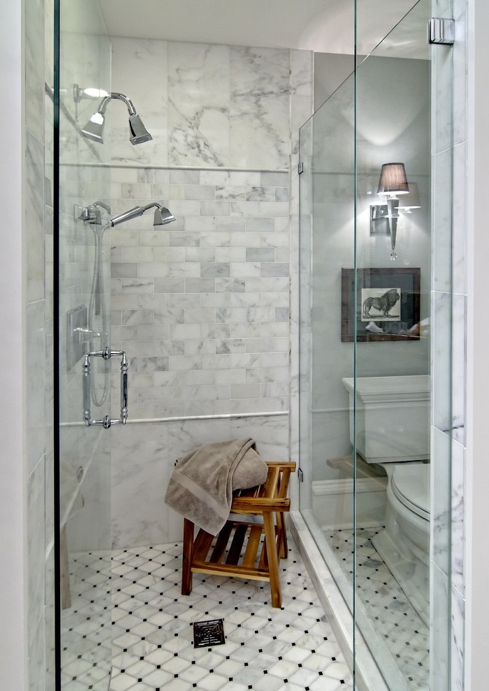 tiled wall and floor tiles shower seat