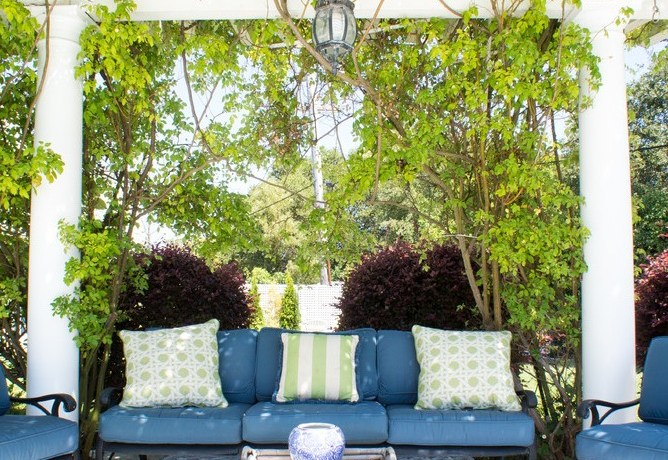 san francisco lantern pendant light with traditional post lights patio and white pergola ivy