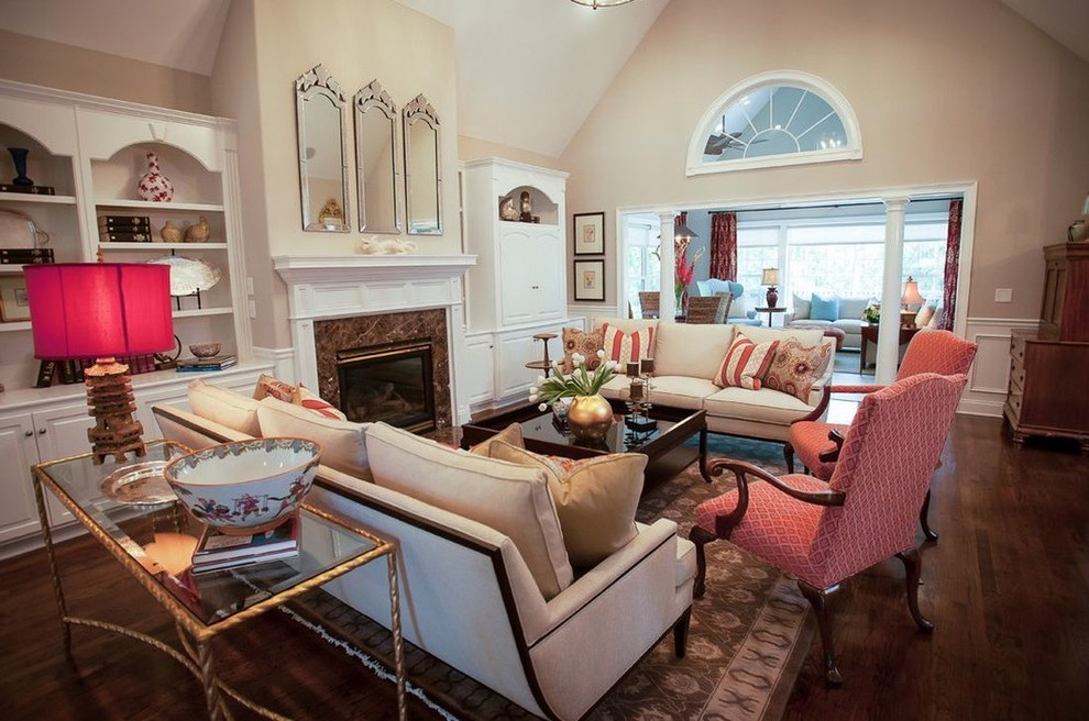 Atlanta Cream Colored Sofa Living Room Contemporary With