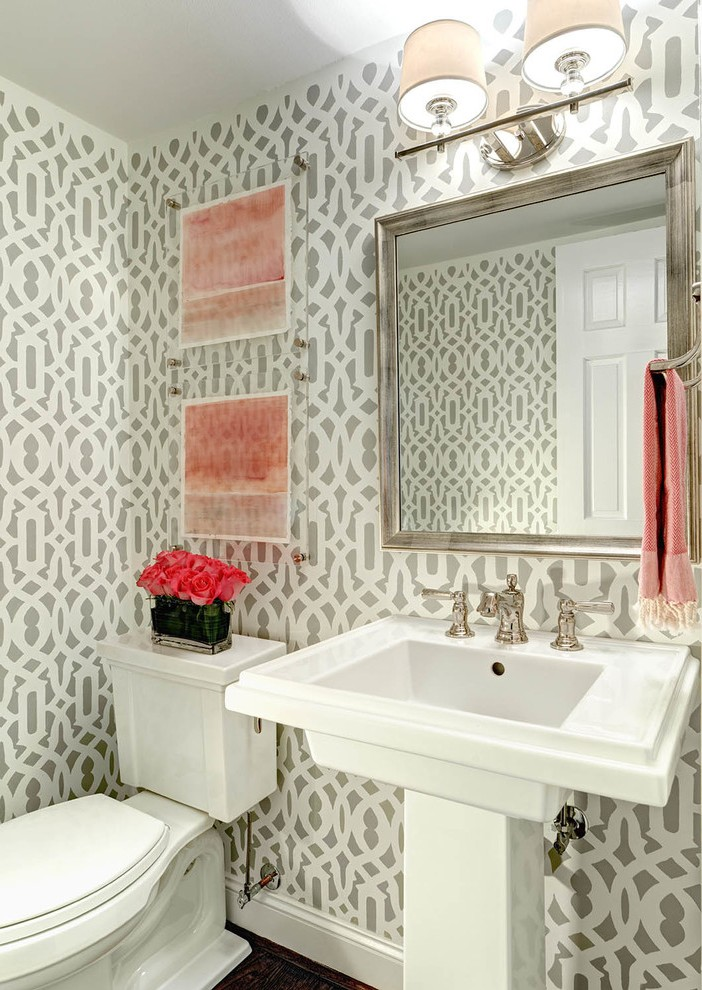 charlotte covered toilet paper powder room transitional