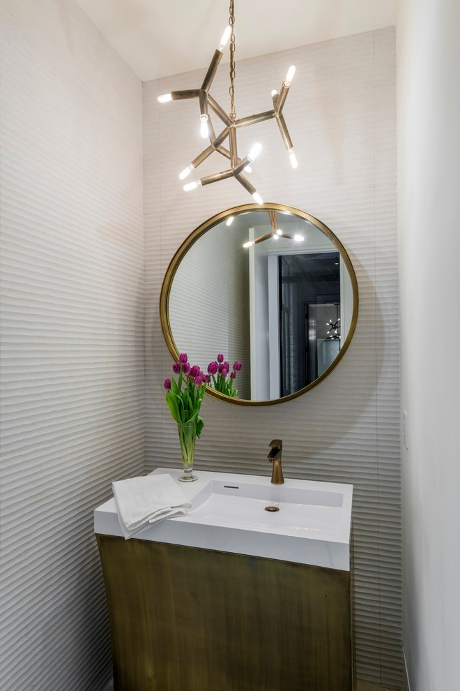dallas filament bulb chandelier powder room contemporary with lighting beveled bathroom mirrors