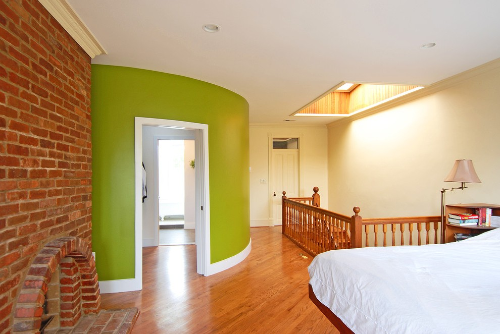 Amazing Lime Green And Turquoise With Wood Molding