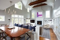 Awesome Fireplaces with Bookshelves Vaulted Ceiling Built ...