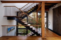 philadelphia metal stair rails staircase farmhouse with ...