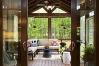 Outstanding Enclosed Ceiling Fan Porch with Sliding Glass
