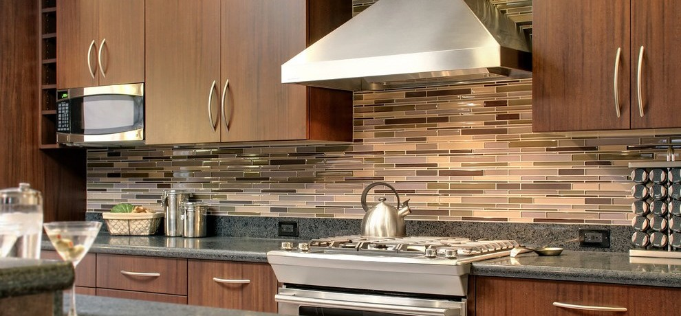 san francisco kitchen glass tile backsplash photos with iron cabinetry contemporary and stainless steel appliances dark wood cabinets