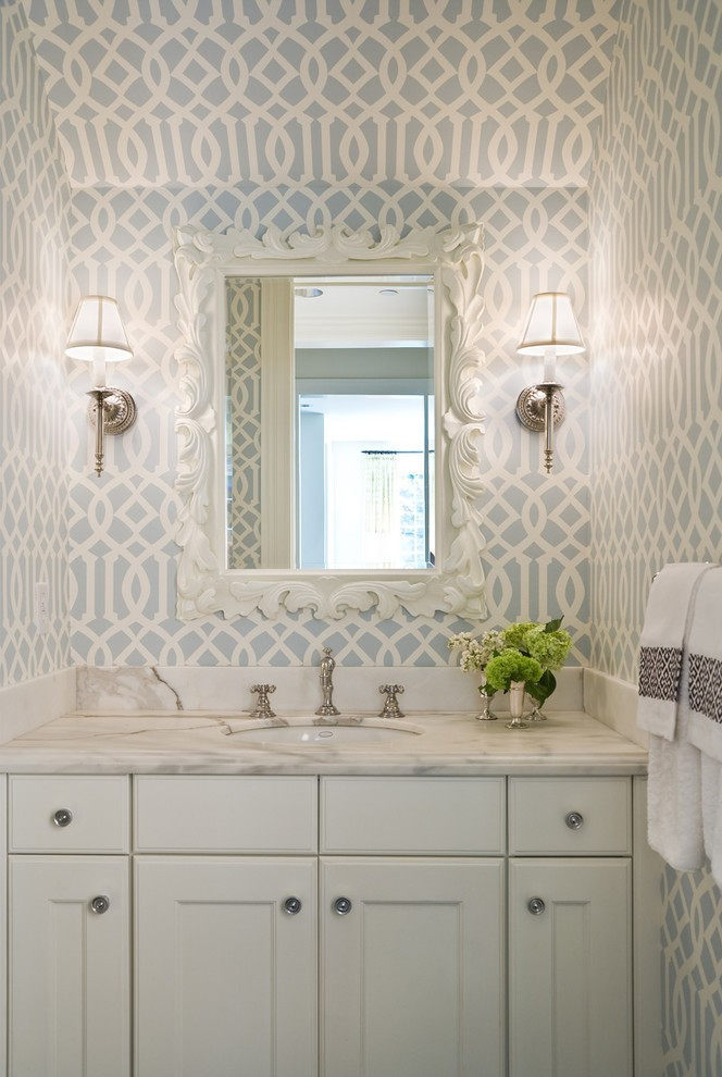 seattle gorgeous and useful powder room traditional with