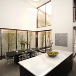seattle granite countertop images with transitional dining room tables modern and dark floor