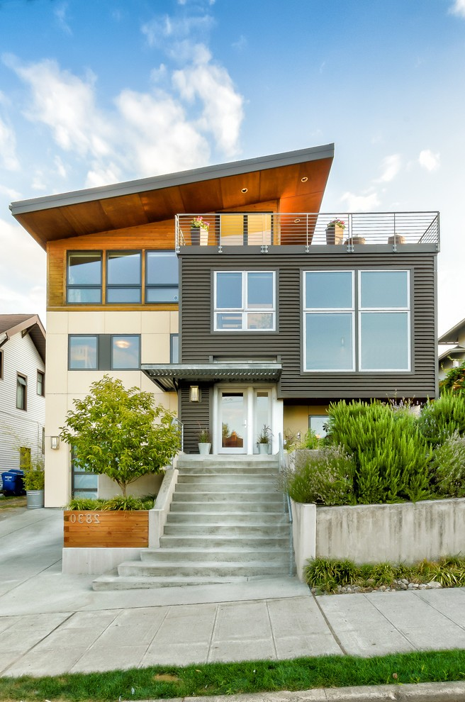 seattle house siding options exterior modern with wood