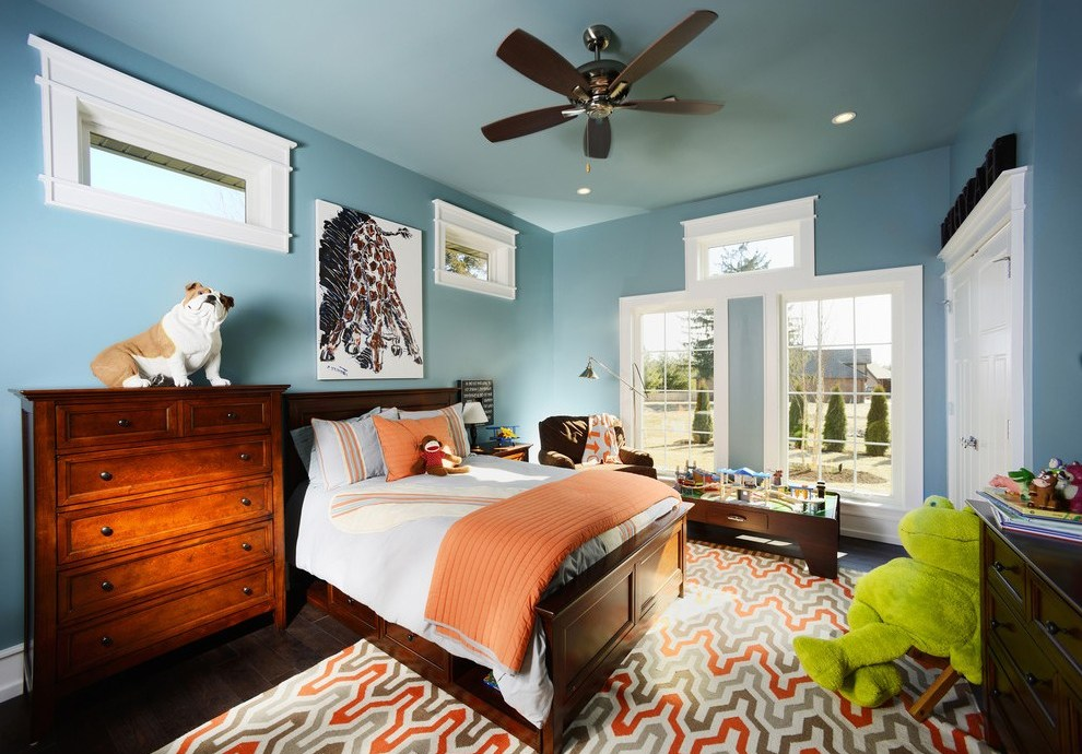 springfield missouri united states burnt orange paint color with wooden kids blocks traditional and geometric print area rug storage bed drawers