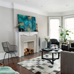 Burnt Orange Paint Color Living Room Design Ideas Blue Couch Toronto Contemporary With Wall Art Transitional Club Chairs Fireplace