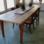 boston farm dining room with wallpaper and wall covering professionals farmhouse custom table light wood