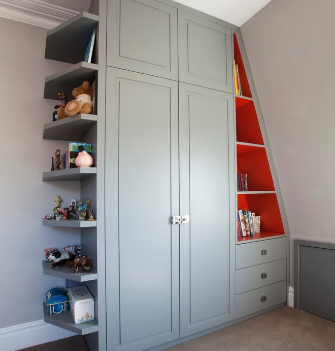 london cabinets for bedrooms with spaces contemporary and gray open shelves corner cabinet