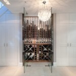 london govino wine glasses with build firms cellar contemporary and chandelier mirror