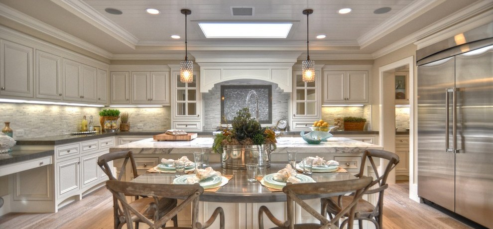 los angeles corian table tops with asian cutting boards kitchen beach style and wood cabinets neutral colors