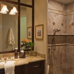 miami pinwheel tile design with contemporary lotion and soap dispensers bathroom traditional dark wood cabinets