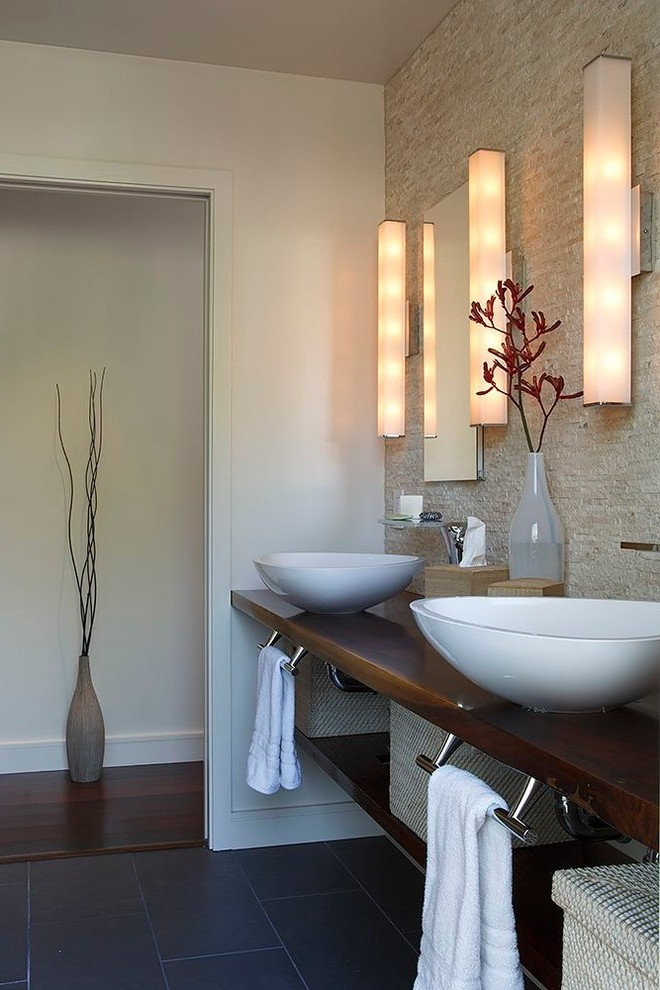 san francisco commercial bathroom design with glass shade contemporary and custom storage basket