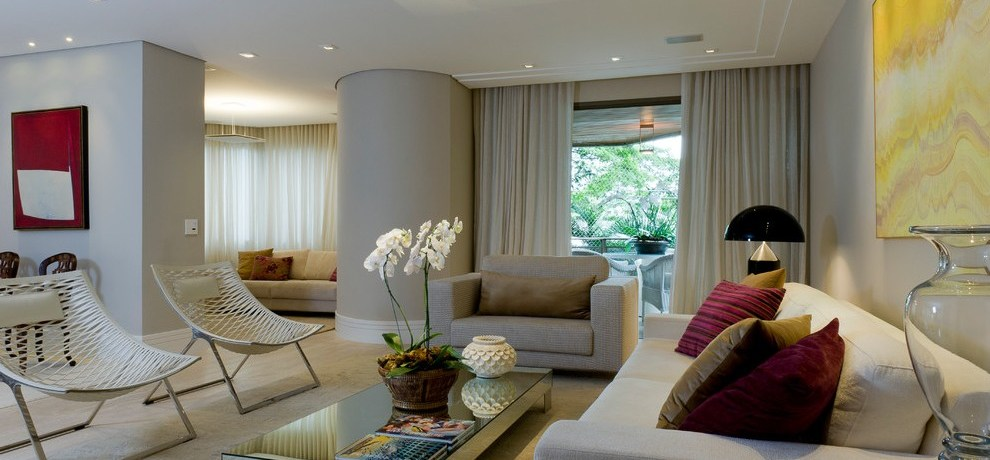 sp sao paulo brazil Interior Design Apartment with living room contemporary and