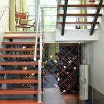 vancouver govino wine glasses with oak cellar racks contemporary and glass doors under stairs storage