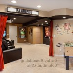 columbus basement decorating ideas with contemporary game tables traditional and red theater curtains marquis