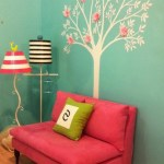 miami fuschia curtains with acrylic novelty rugs kids eclectic and hot pink love seat reading nook