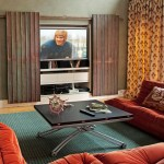 new york tv cabinets with doors transitional sofas family room eclectic and wood floors orange sectional