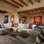albuquerque decorating with red couches dimmable chandeliers living room southwestern and gray chairs striped pillows