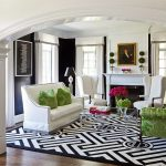 dc metro red black and white wall decor with made area rugs living room transitional walls greek key