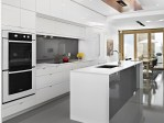 Awesome Kitchen Countertop Choices Contemporary with High-gloss Cabinet Peel and Stick Backsplash Tile Ideas